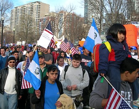 Immigrants march